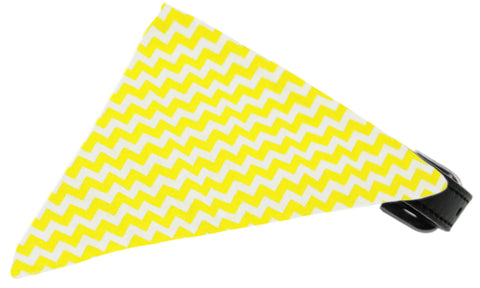 Yellow Chevron Dog Pet Puppy Bandana Collar