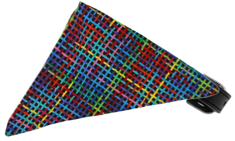 Rainbow Party Plaid Dog Pet Puppy Bandana Collar