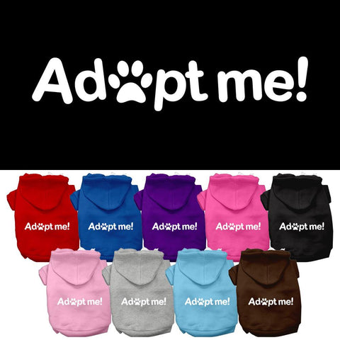 Adopt Me Screen Print Pet Dog Cat Pet Puppy Hoodie Hooded Winter Apparel