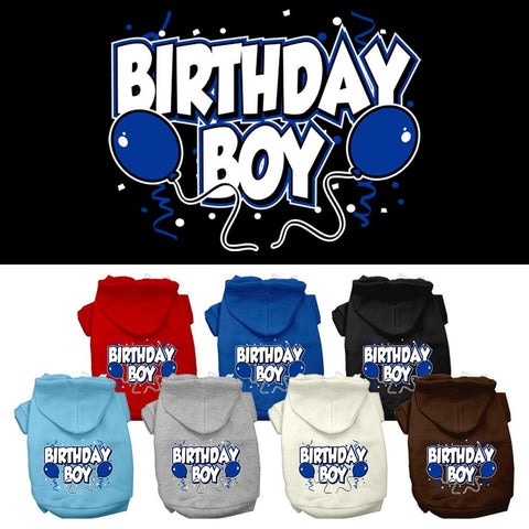 Birthday Boy Screen Print Pet Dog Cat Pet Puppy Hoodie Hooded Winter Apparel