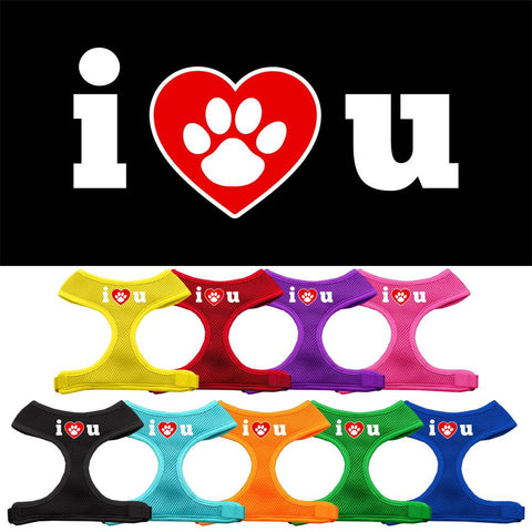 I Love U Soft Mesh Dog Pet Puppy Harness