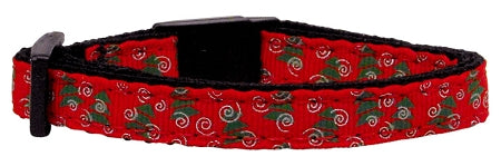 Christmas Trees Nylon and Ribbon Cat Kitten Safety Collar