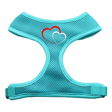 Double Heart Design Soft Mesh Dog Pet Puppy Harness