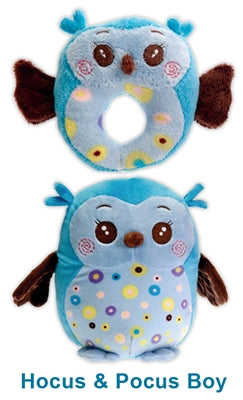 Owl Boy Dog Pet Puppy Chew Toy Set
