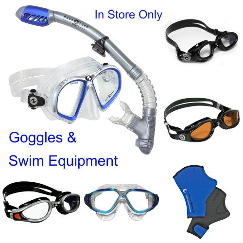 aquasphere goggle mask swim equipment