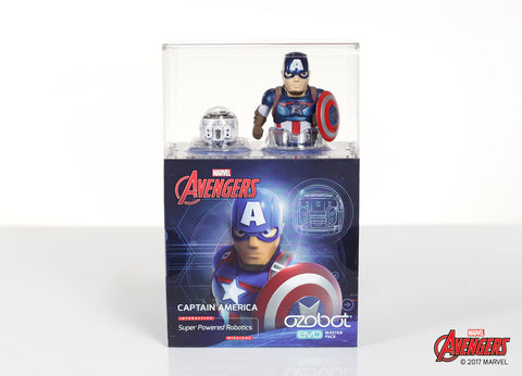 Ozobot Evo Starter Pack w/ Captain America app-enabled Action Skin
