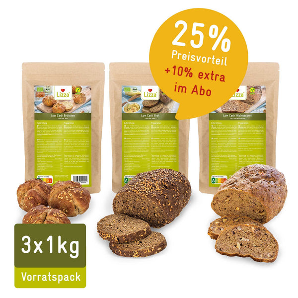 ABO Lizza Low Carb Brot-Mix Vorratspacks