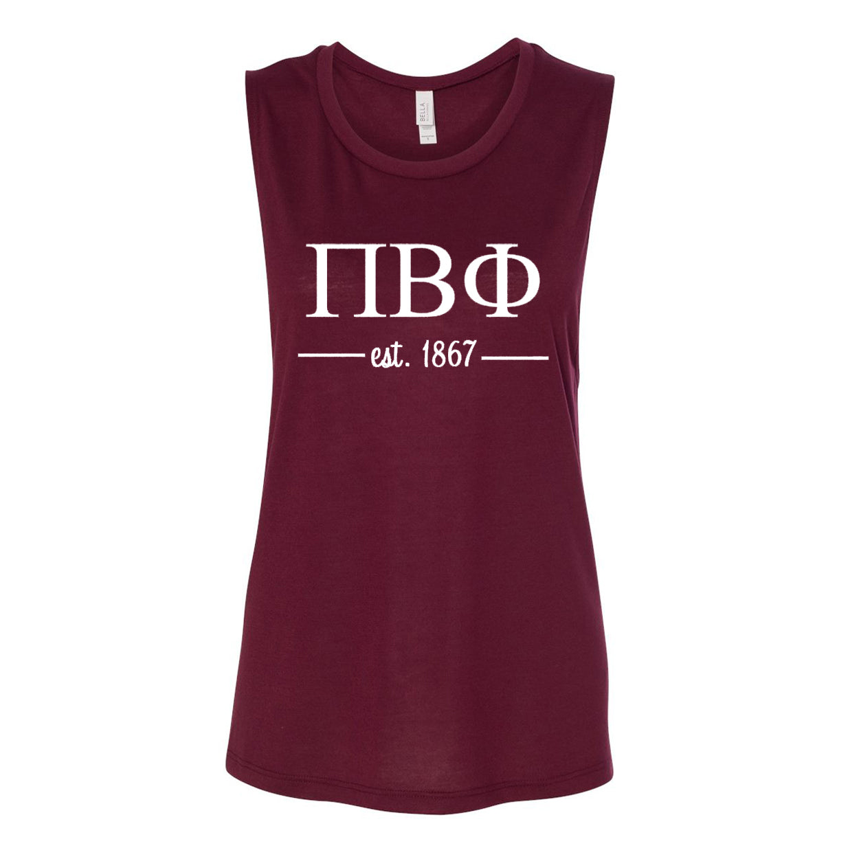 Pi Beta Phi Sleeveless Tee with Est. 1867