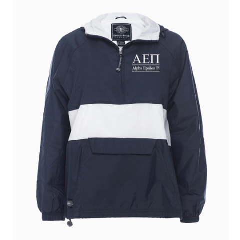 Alpha Epsilon Pi Rugby Striped Lined Windbreaker