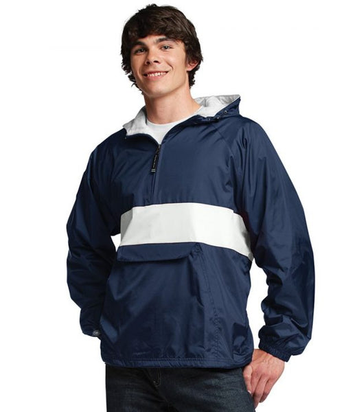 Phi Gamma Delta Rugby Striped Lined Windbreaker