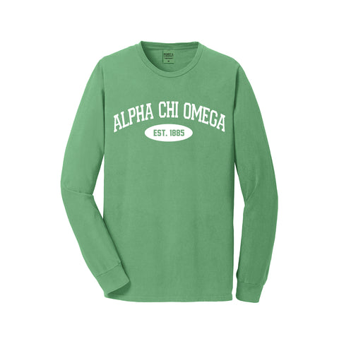 Alpha Chi Omega Long Sleeve Vintage T-Shirt