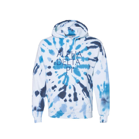 Alpha Delta Pi Tie Dye Hooded Sweatshirt