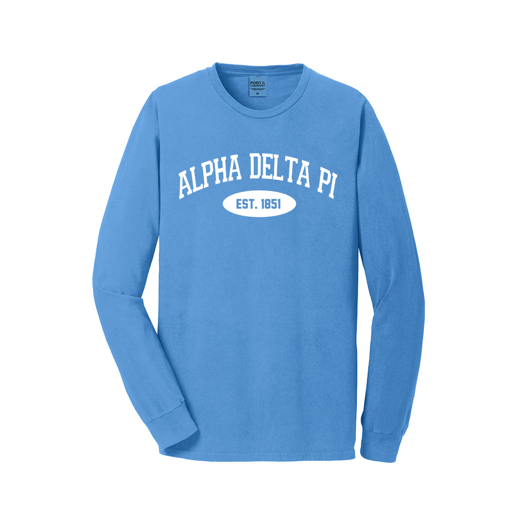 Alpha Delta Pi Long Sleeve Vintage T-Shirt