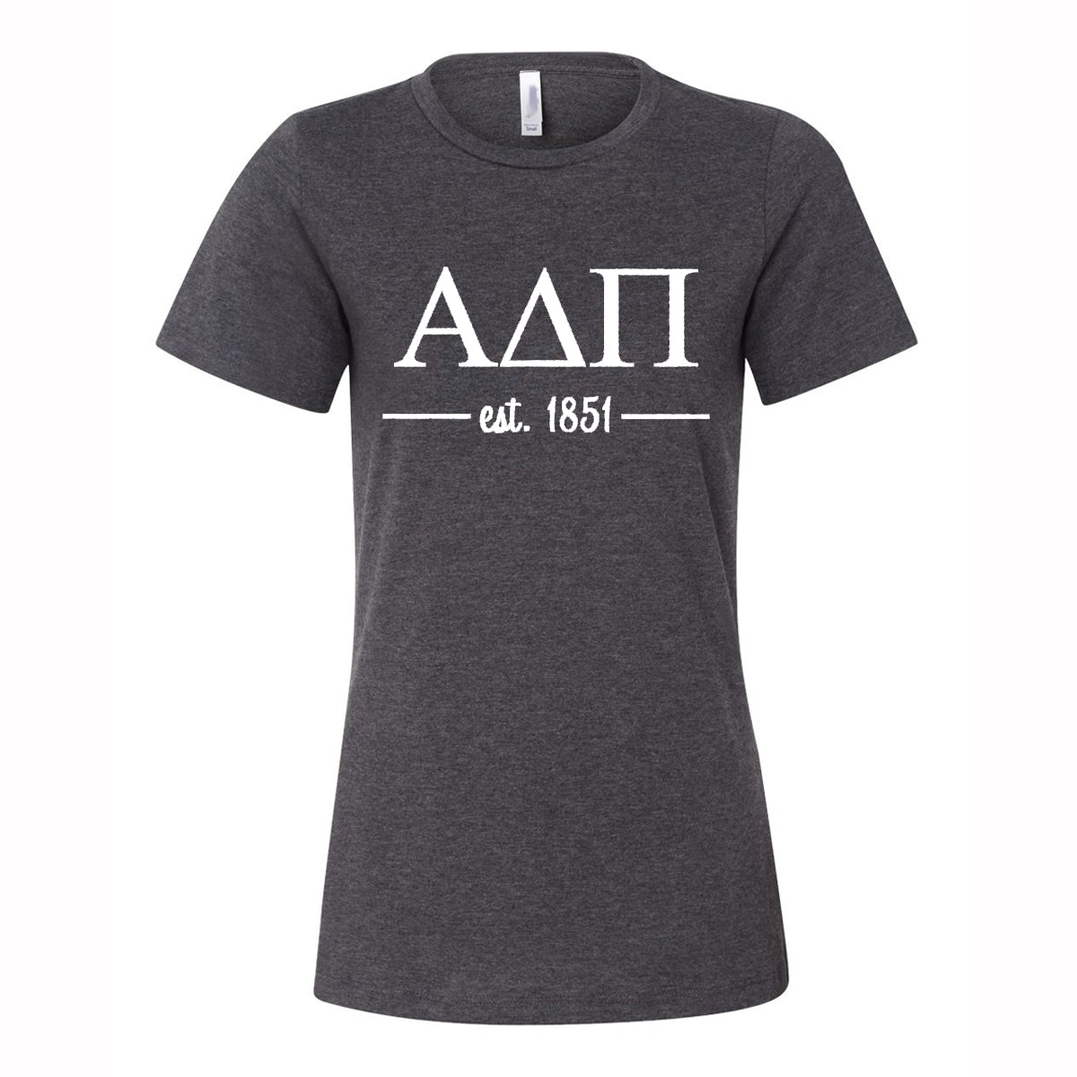 Alpha Delta Pi Women's Relaxed Fit Short Sleeve Jersey Tee