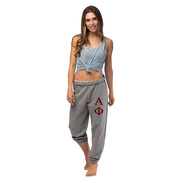 Alpha Phi Oversized Boyfriend Sweats