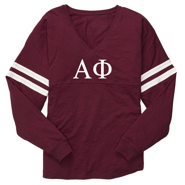 Alpha Phi Varsity Long Sleeve T-Shirt