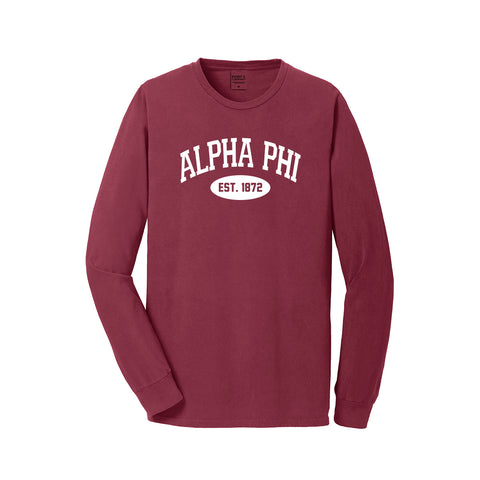 Alpha Phi Long Sleeve Vintage T-Shirt