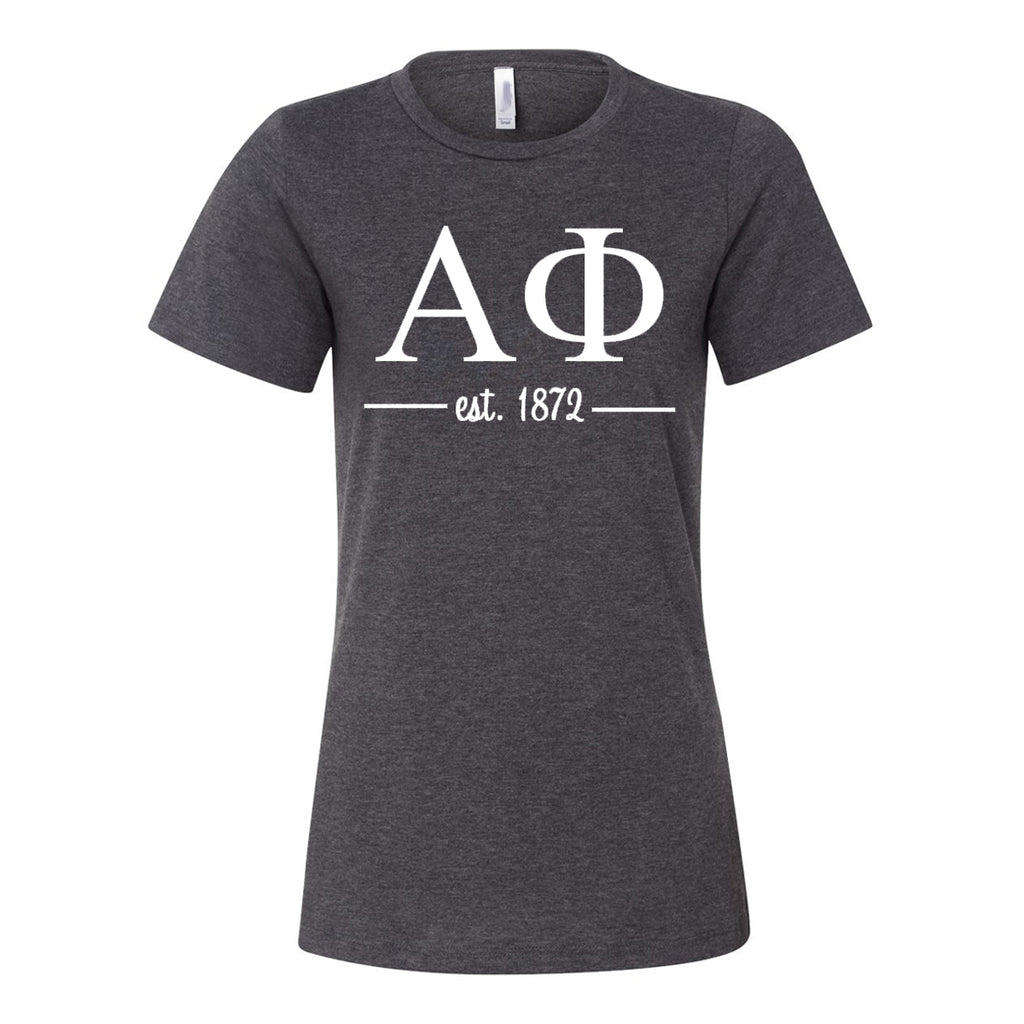Alpha Phi Women's Relaxed Fit Short Sleeve Jersey Tee