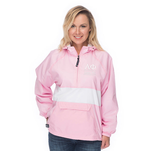 Alpha Phi Classic Striped Windbreaker - Lined