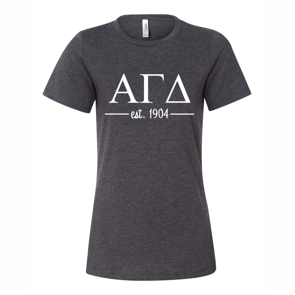 Alpha Gamma Delta Women's Relaxed Fit Short Sleeve Jersey Tee