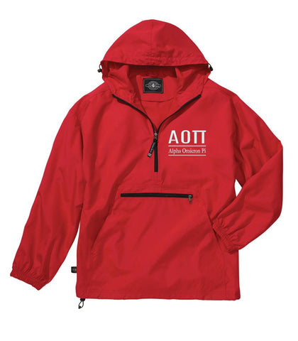 Alpha Omicron Pi Classic Solid Lightweight Pullover Windbreaker