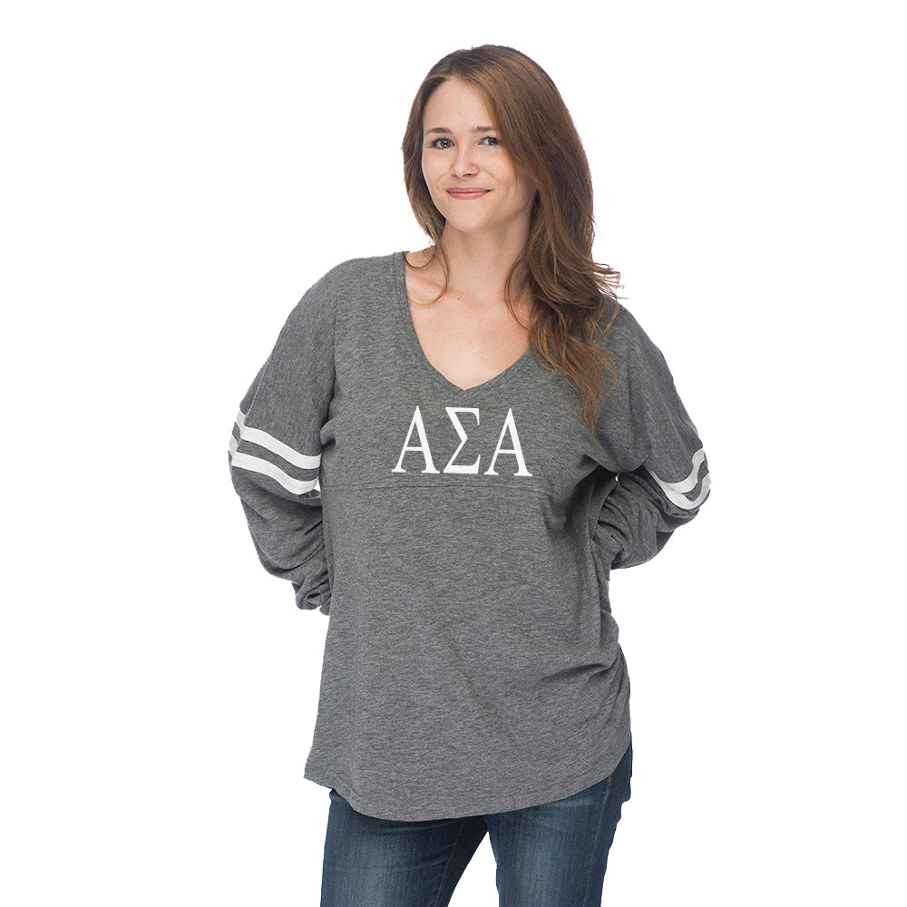 Alpha Sigma Alpha Varsity Long Sleeve T-Shirt
