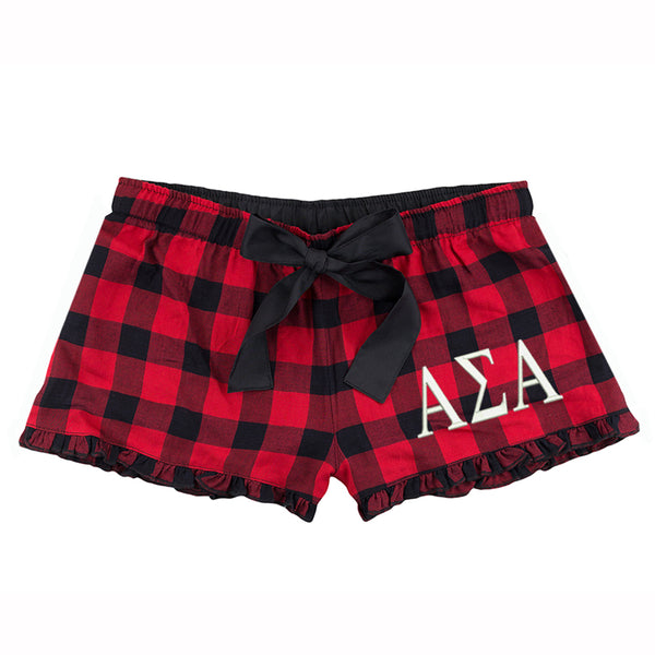 Alpha Sigma Alpha Flannel Boxer Shorts