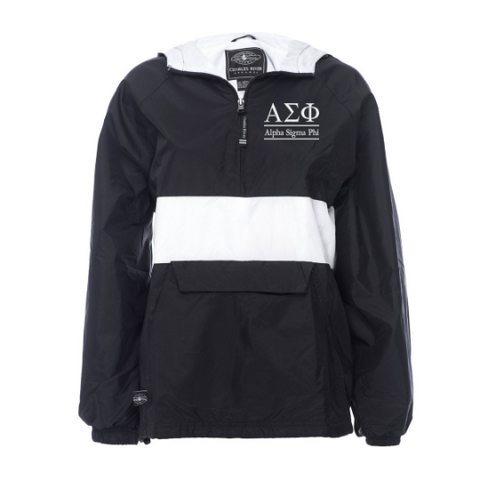 Alpha Sigma Phi Rugby Striped Lined Windbreaker