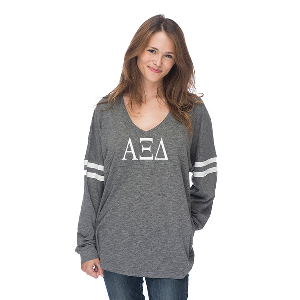 Alpha Xi Delta Varsity Long Sleeve T-Shirt