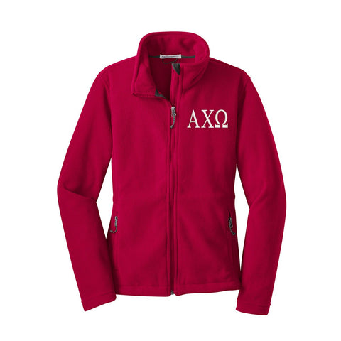 Alpha Chi Omega Fleece Zip Cadet Jacket