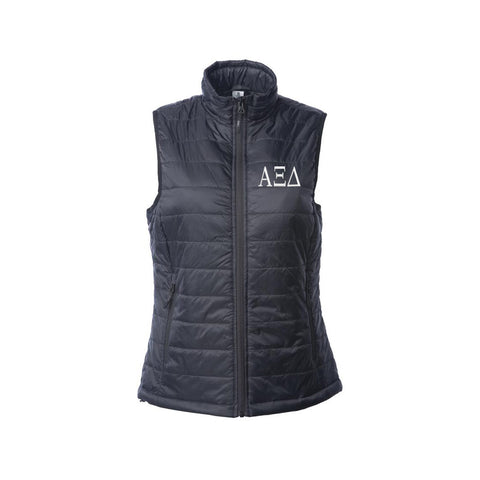 Alpha Xi Delta Puffy Vest