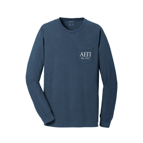 Alpha Epsilon Pi Long Sleeve Pocket Tee