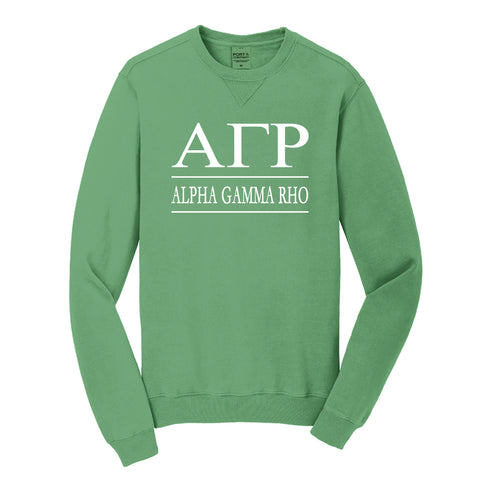 Alpha Gamma Rho Beach Washed Crewneck Sweatshirt