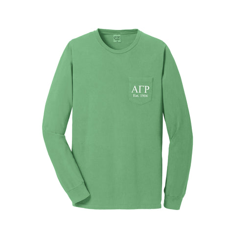 Alpha Gamma Rho Long Sleeve Pocket Tee