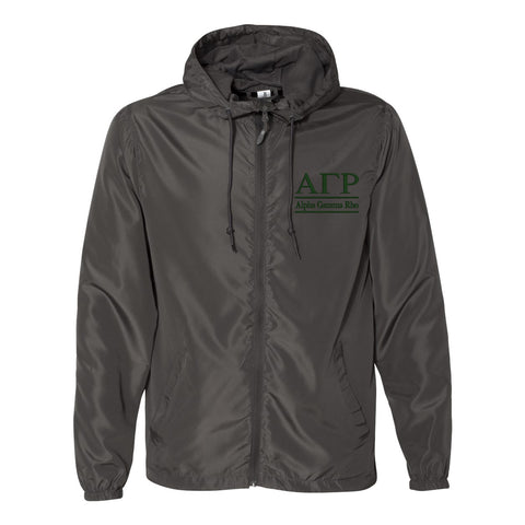 Alpha Gamma Rho Full Zip Windbreaker