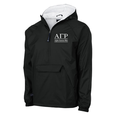 Alpha Gamma Rho Flannel Lined Windbreaker