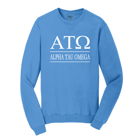 Alpha Tau Omega Beach Washed Crewneck Sweatshirt
