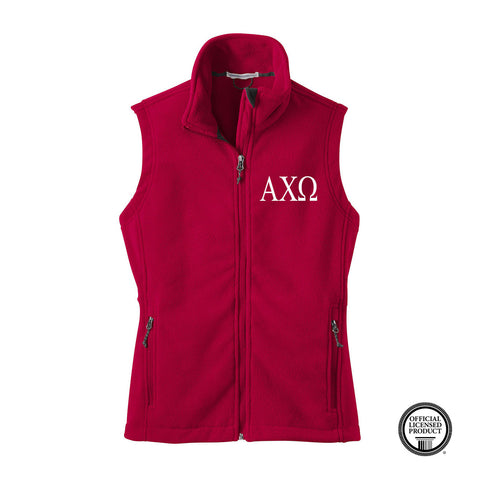 Alpha Chi Omega Fleece Vest