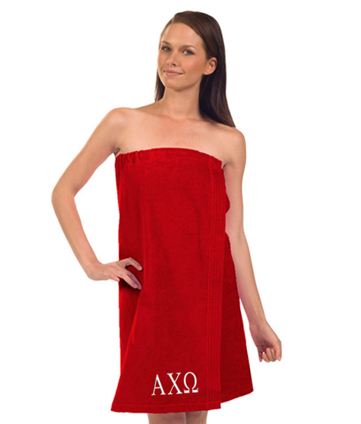 Alpha Chi Omega Terry Velour Spa Wrap