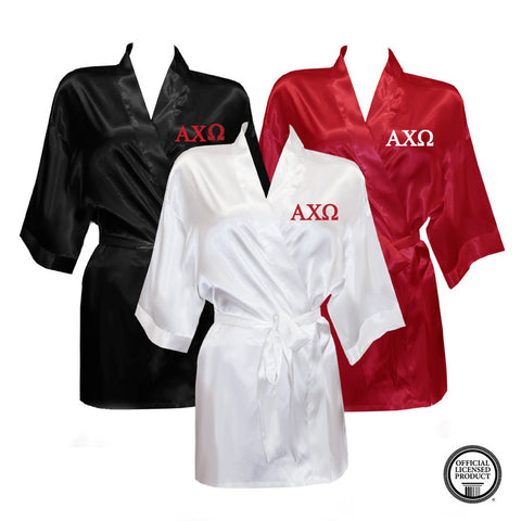 Alpha Chi Omega Satin Robe