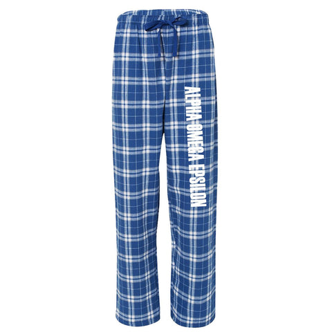 Alpha Omega Epsilon Flannel Pants