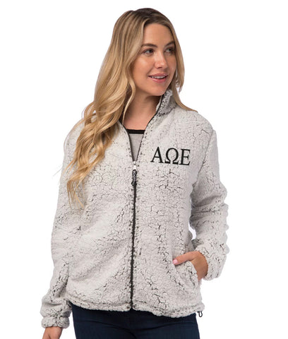Alpha Omega Epsilon Sherpa Full Zip Jacket