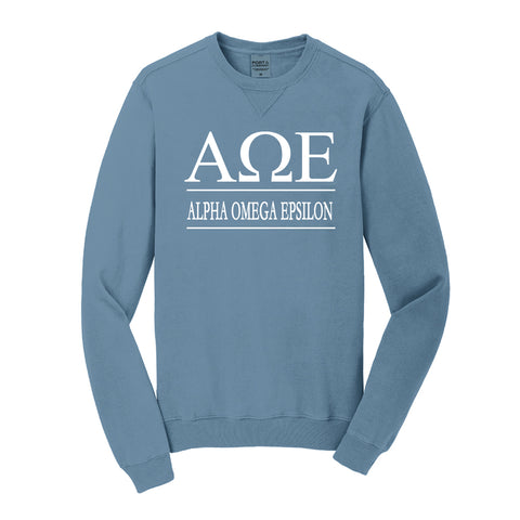 Alpha Omega Epsilon Vintage Color Crewneck Sweatshirt