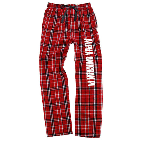 Alpha Omicron Pi Flannel Pants
