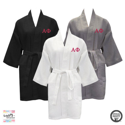 Alpha Phi Waffle Weave Robe