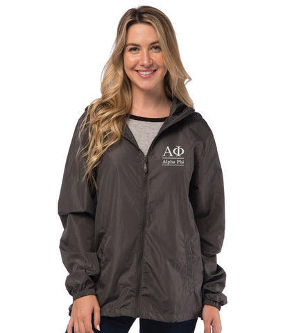 Alpha Phi Lightweight Windbreaker Jacket