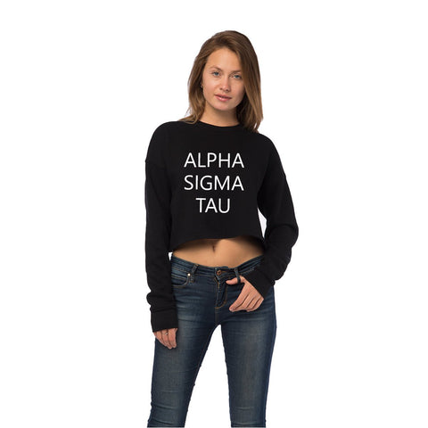 Alpha Sigma Tau Cropped Crew Fleece