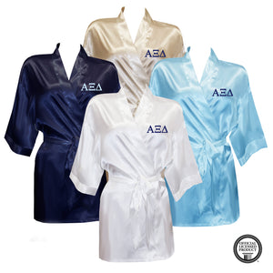 Alpha Xi Delta Satin Robe