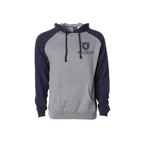 Beta Theta Pi Raglan Hooded Sweatshirt