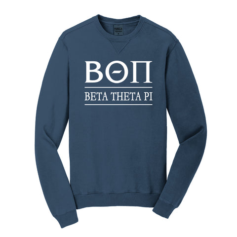 Beta Theta Pi Beach Washed Crewneck Sweatshirt